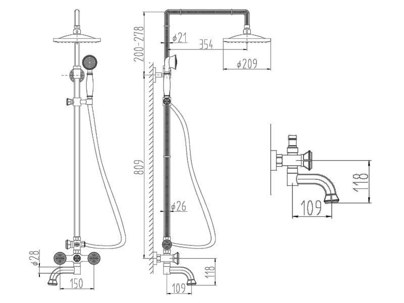 AZR 608 DS-1-12 SL Душевая