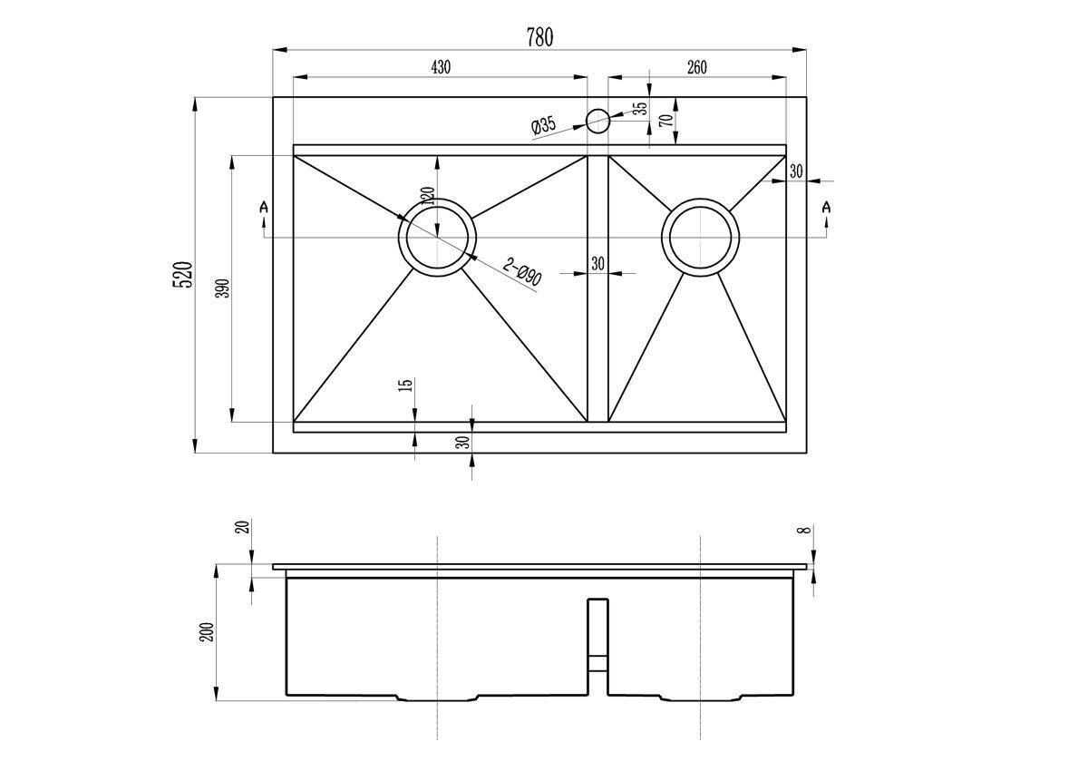 схема установки мойку